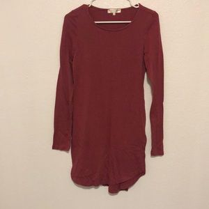 THREADS 4 THOUGHT PINK LONG SLEEVE DRESS M
